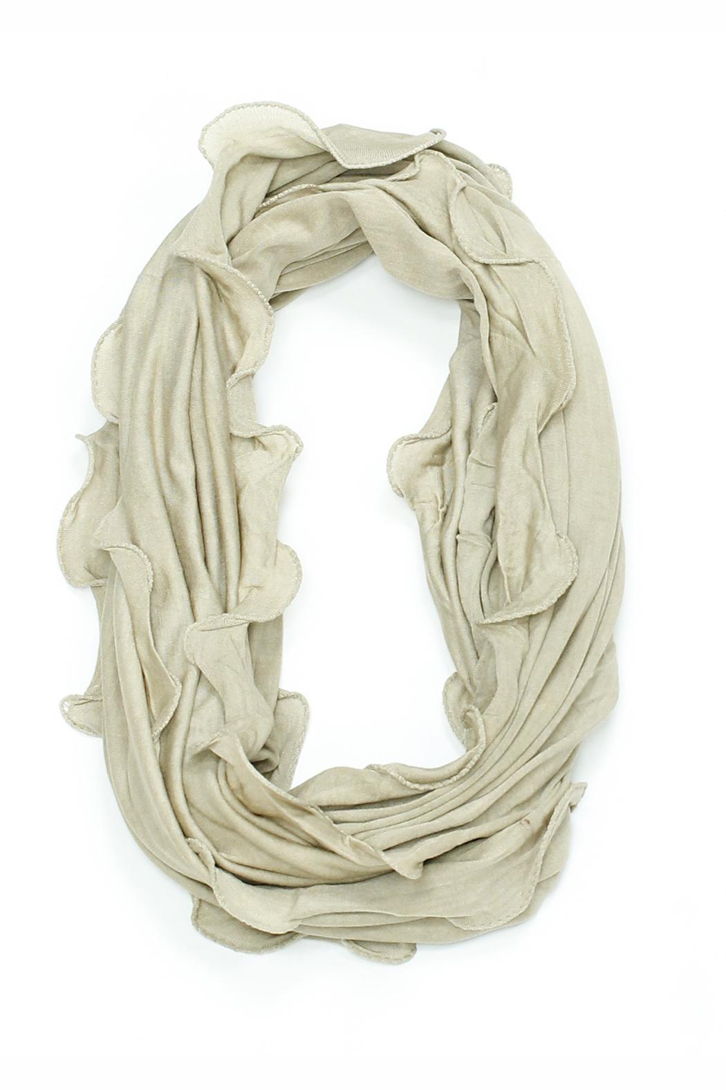 Violet Del Mar Ruffle Infinity Scarf - Front Cropped Image