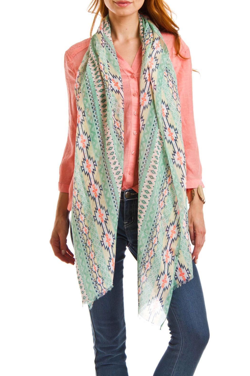Violet Del Mar Sea Green Scarf - Front Full Image