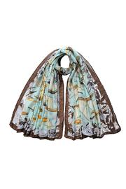 Violet Del Mar Ship Print Scarf - Product Mini Image
