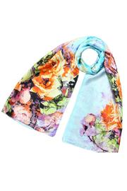 Violet Del Mar Silk Floral Scarf - Product Mini Image