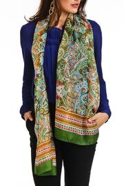 Violet Del Mar Silk Paisley Scarf - Front cropped