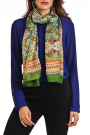 Violet Del Mar Silk Paisley Scarf - Front full body