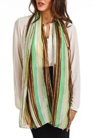 Violet Del Mar Silk Stripe Scarf - Front full body