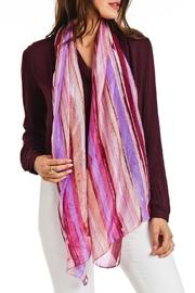 Violet Del Mar Silk Stripe Scarf - Side cropped