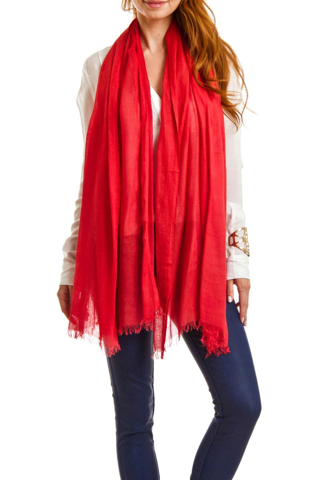 Violet Del Mar Solid Colored Scarf - Front Full Image