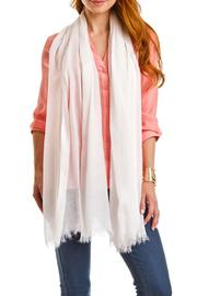 Violet Del Mar Solid White Scarf - Front cropped