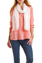 Violet Del Mar Solid White Scarf - Front full body