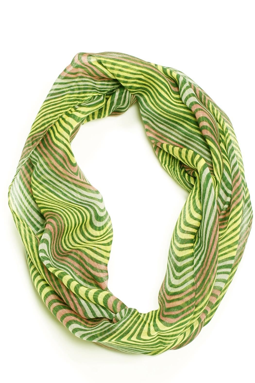 Violet Del Mar Striped Infinity Scarf - Front Cropped Image