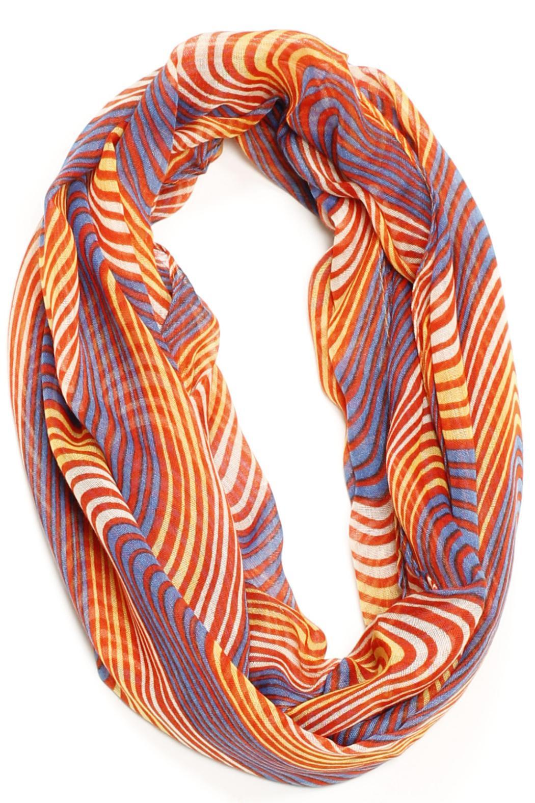 Violet Del Mar Striped Infinity Scarf - Main Image