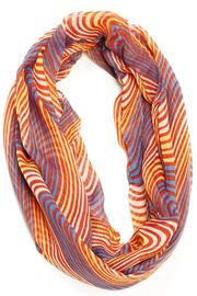 Violet Del Mar Striped Infinity Scarf - Product Mini Image