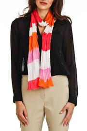 Violet Del Mar Stripe Scarf - Front full body