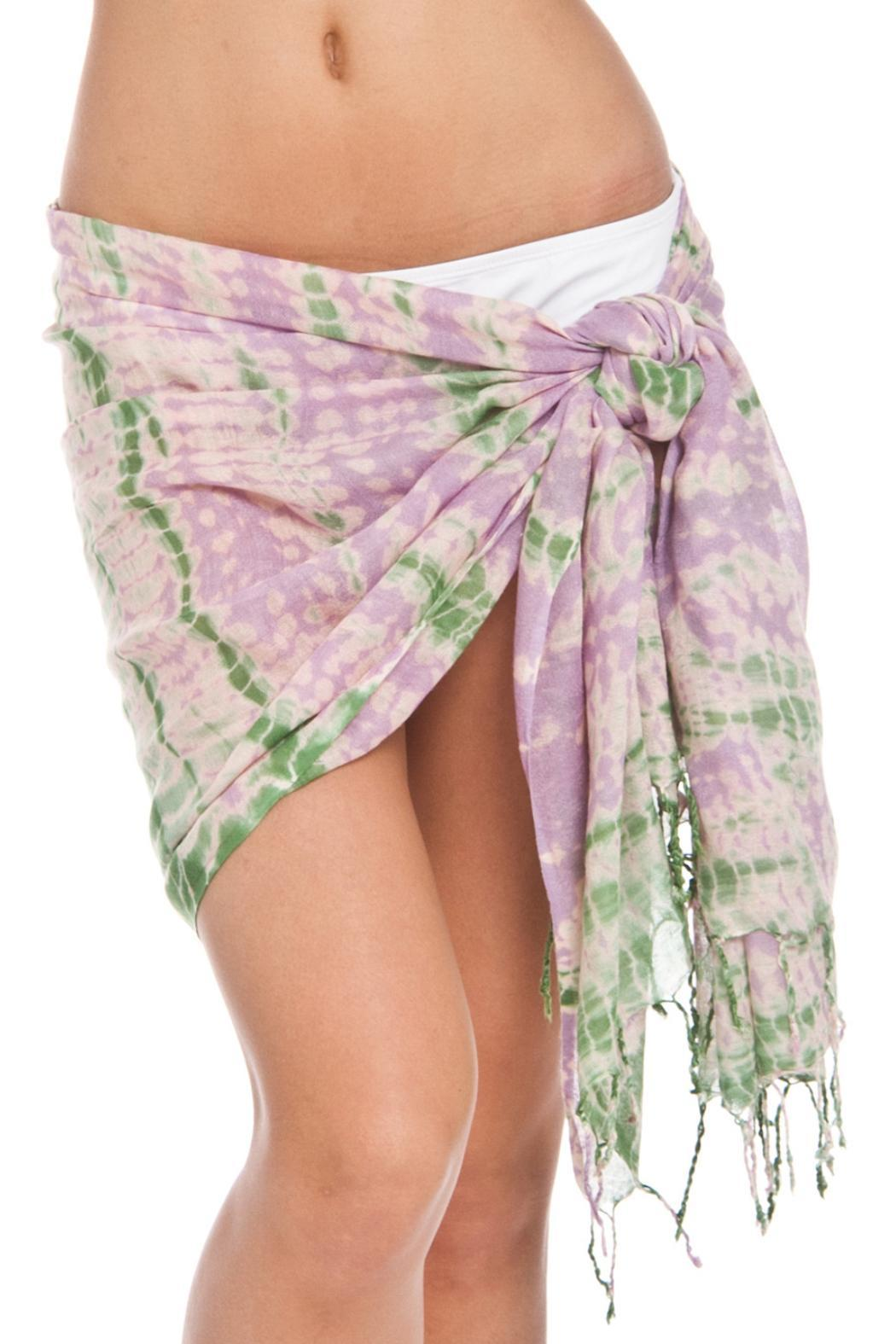 Violet Del Mar Tie-Dye Cover Up - Main Image