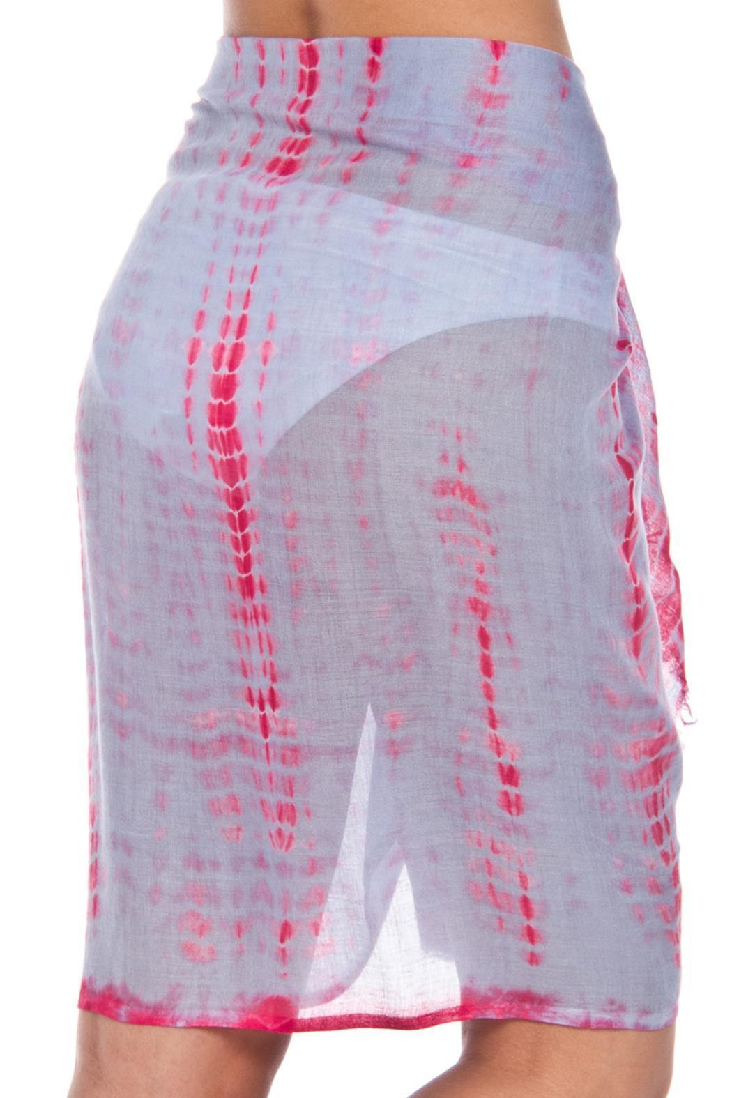 Violet Del Mar Tie-Dye Cover Up - Back Cropped Image