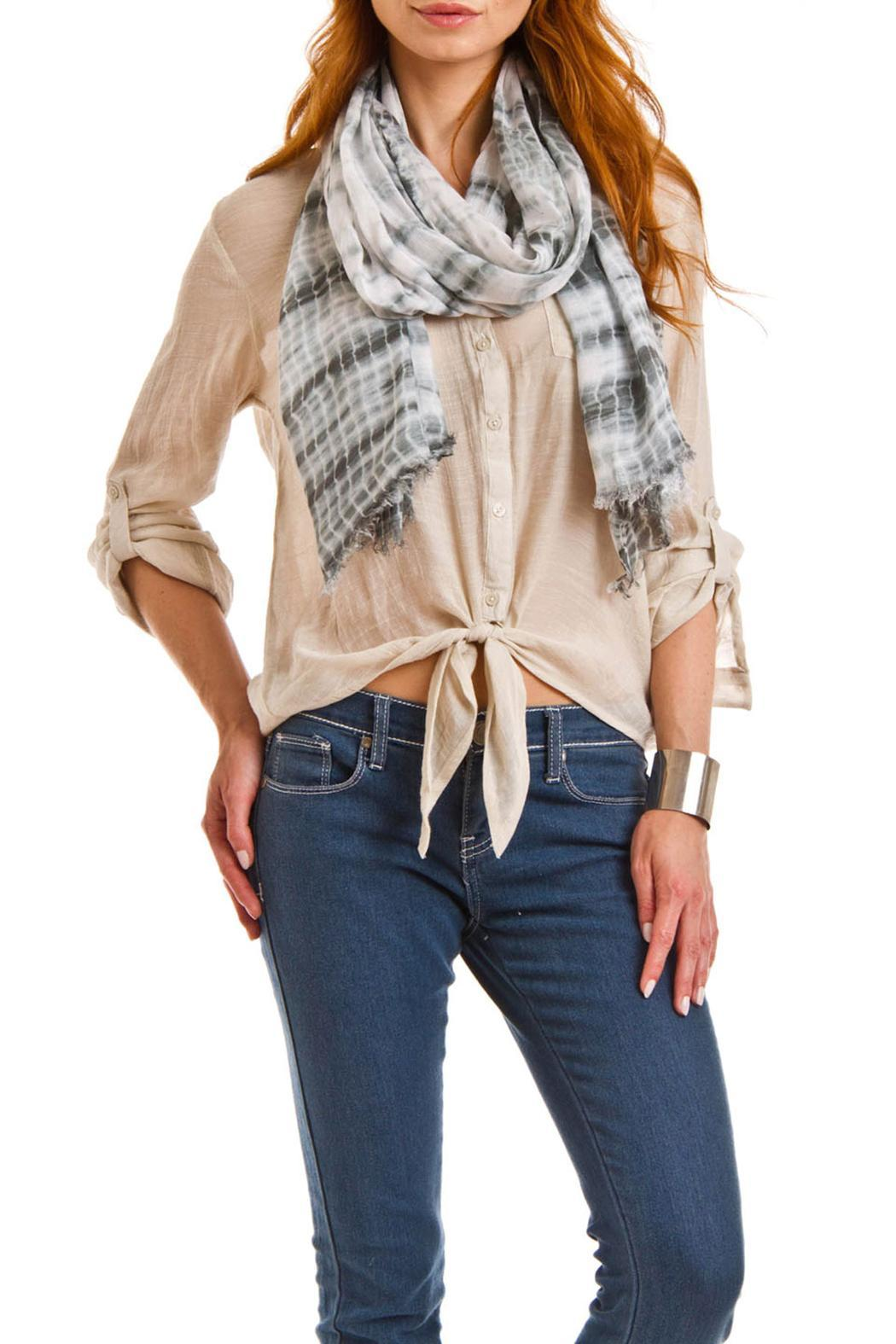 Violet Del Mar Tie-Dye Grey Scarf - Side Cropped Image