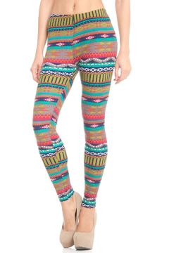 Violet Del Mar Tribal Print Tights - Product List Image