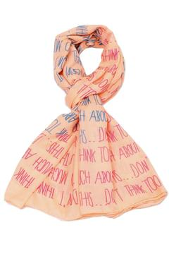 Shoptiques Product: Two-Hearts Peach Scarf