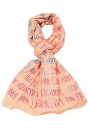 Violet Del Mar Two-Hearts Peach Scarf - Product Mini Image