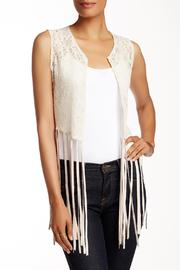 Violet Del Mar Faux-Suede Fringed Vest - Product Mini Image