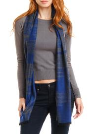 Violet Del Mar Cashmere Navy-Grey Scarf - Product Mini Image