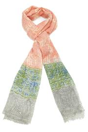 Violet Del Mar Wool Peach Scarf - Front cropped