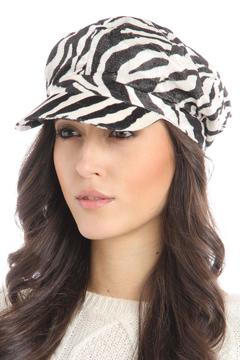 Violet Del Mar Zebra Newsboy Hat - Alternate List Image