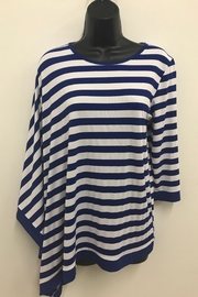 Violet Ruby Striped Cape Top - Product Mini Image