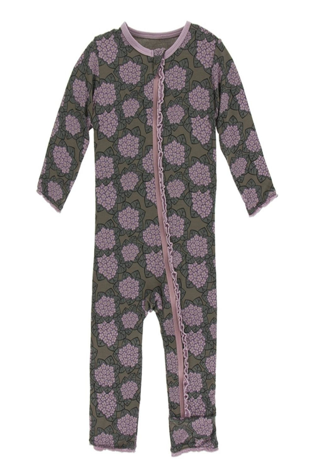 Kickee Pants Violets Zipper Coverall - Front Cropped Image