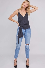 ASTR VIP Python Wrap Top - Front cropped