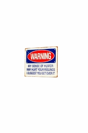 VIP International Humor Warning Sign - Product Mini Image
