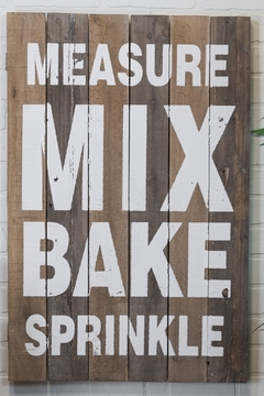 Shoptiques Product: Measure/mix/bake/sprinkle Sign