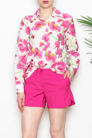 Vipavadee Pink Floral Blouse - Front cropped