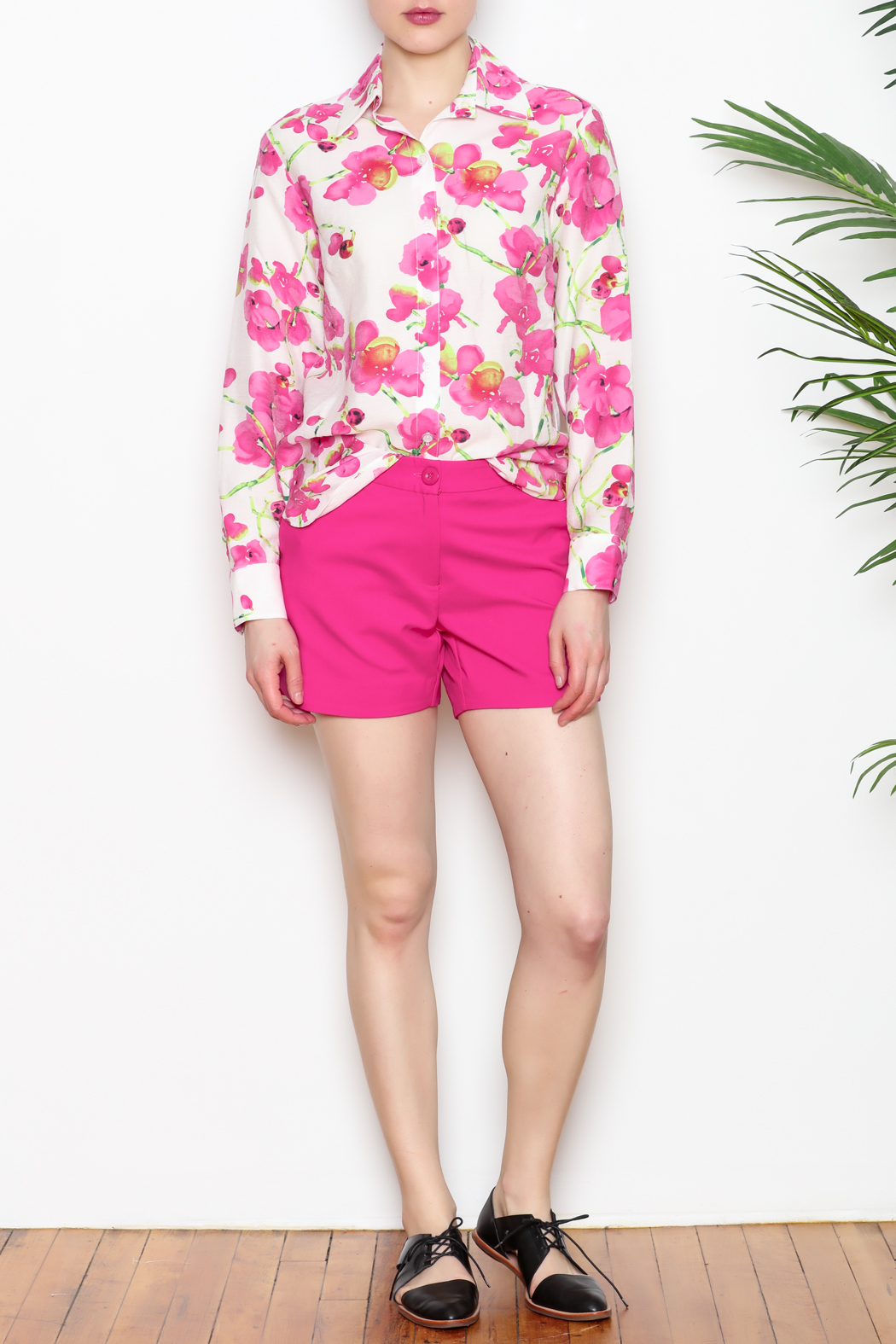 Vipavadee Pink Floral Blouse - Front Full Image