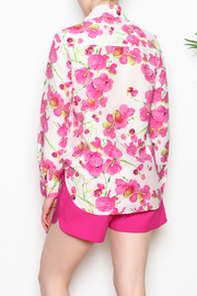 Vipavadee Pink Floral Blouse - Back cropped