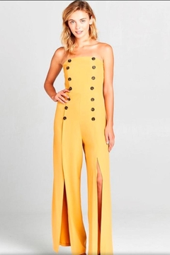 virgin only Mustard Bandeau Jumpsuit - Product List Image