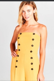 virgin only Mustard Bandeau Jumpsuit - Front full body