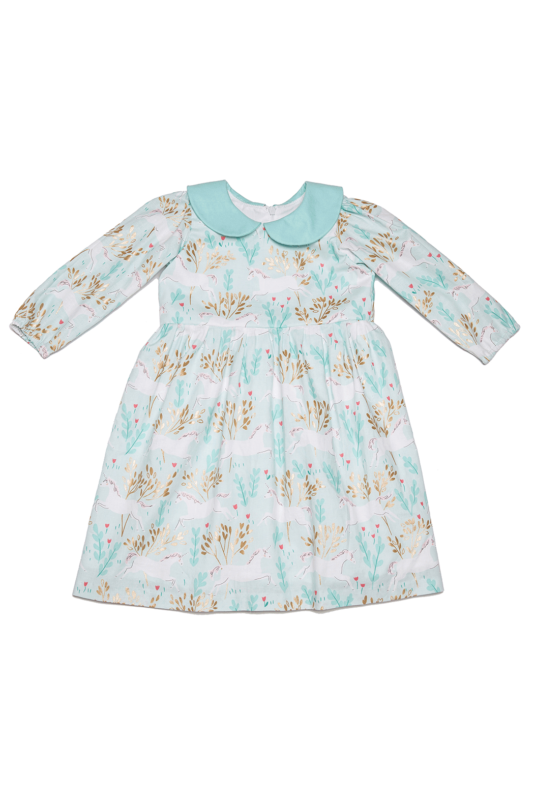 Mandy by Gema Virginia Dress Unicorn Forest Mint - Front Full Image