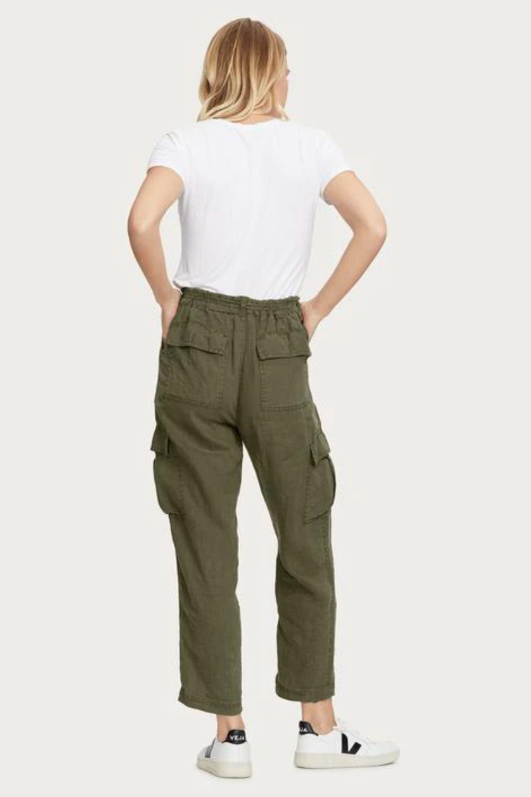 Michael Stars Virginia Linen Cargo Pant - Side Cropped Image