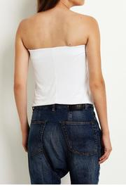 Virginia Wolf Gathered Tube Top - Front full body