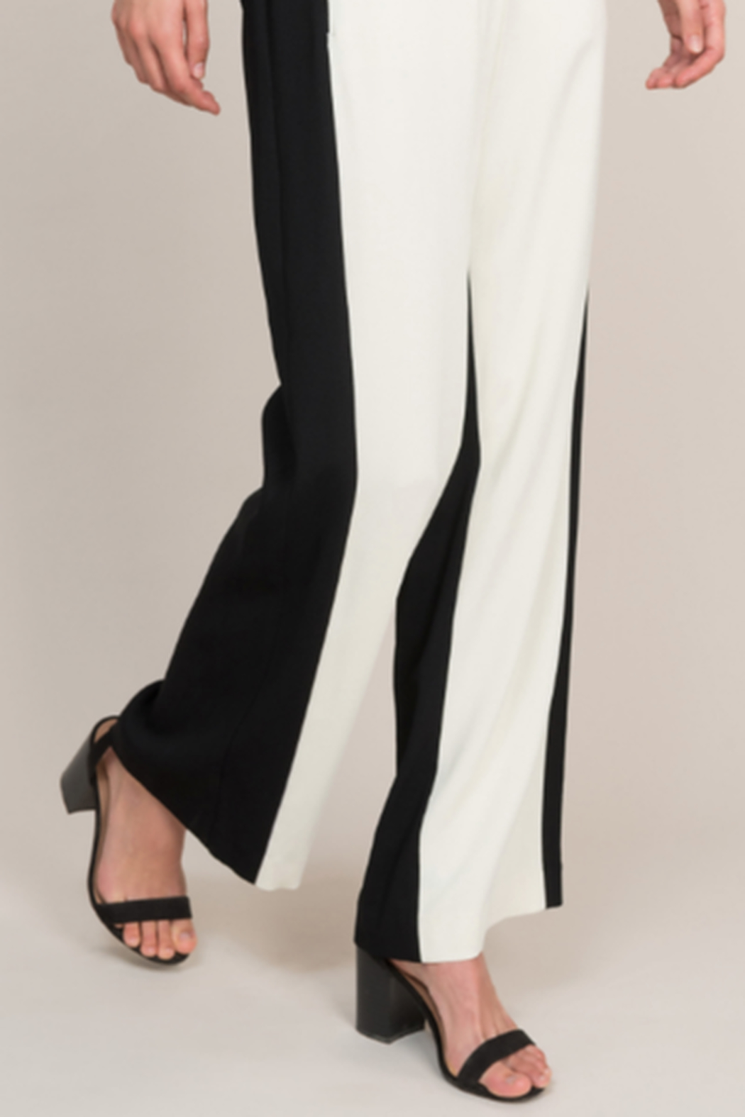 Summum Viscose Crepe Trousers - Side Cropped Image