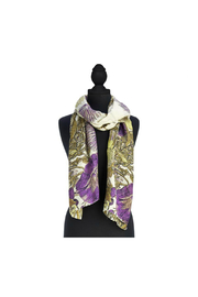 Two's Company Viscose Floral Scarf - Front full body