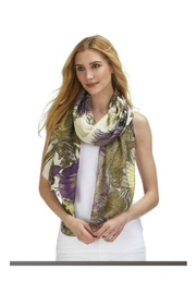 Two's Company Viscose Floral Scarf - Product Mini Image