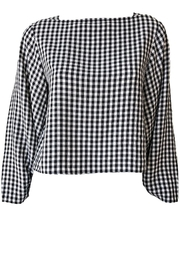 Tibi Viscose Gingham Boatneck - Product Mini Image