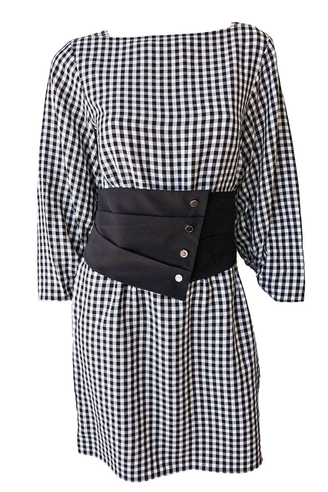 Tibi Viscose Gingham Dress - Front Cropped Image