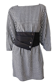 Tibi Viscose Gingham Dress - Front cropped