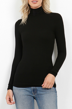 Three Dots Viscose Rib L/S Turtleneck - Product List Image