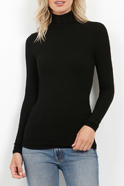 Three Dots Viscose Rib L/S Turtleneck - Product Mini Image