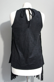Vision Faux Suede-Fringe Tanktop - Front full body