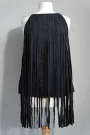 Vision Faux Suede-Fringe Tanktop - Product Mini Image