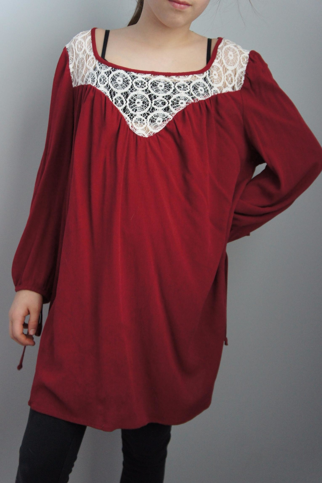 Vision Laceneck Peasant Tunic - Front Cropped Image
