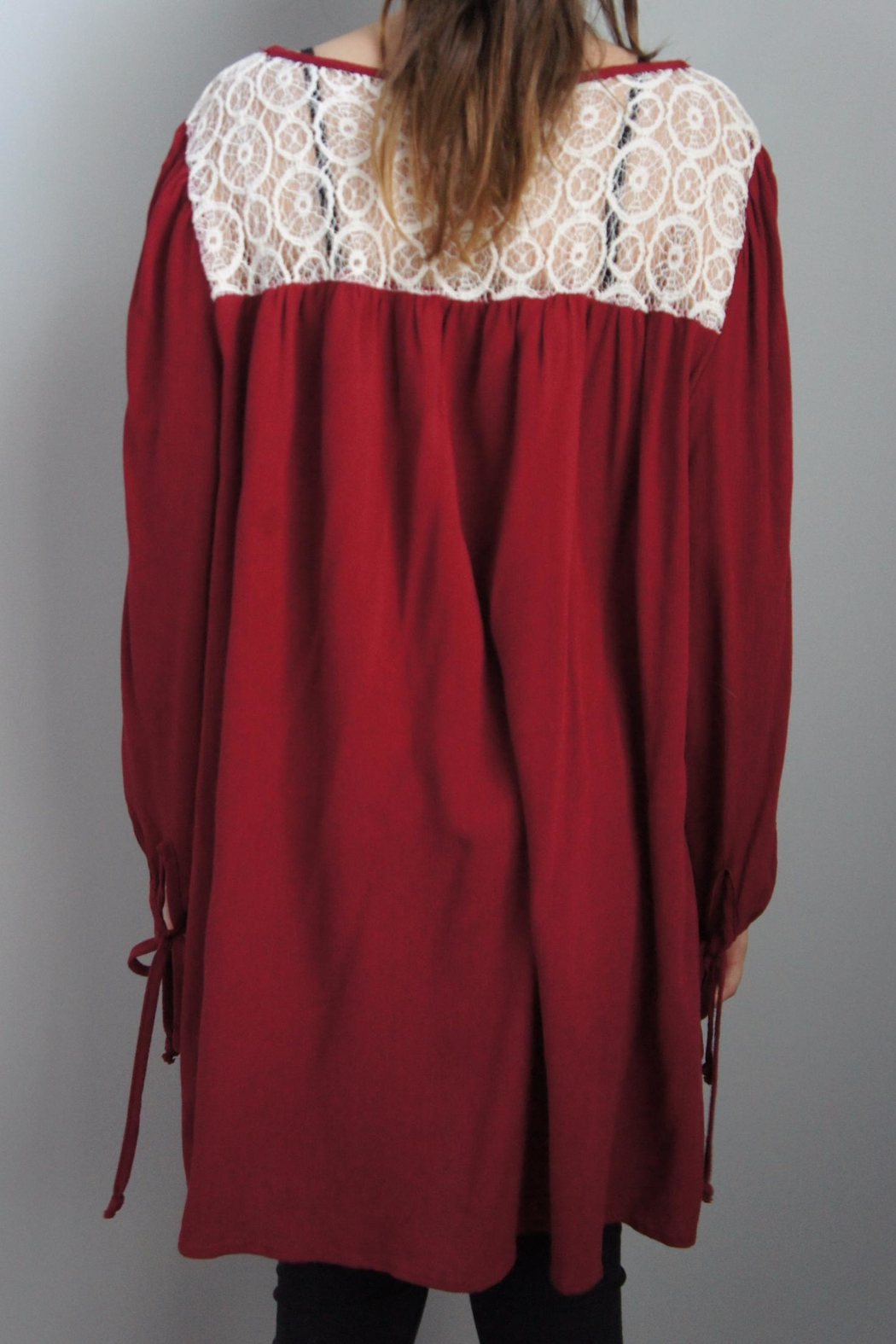 Vision Laceneck Peasant Tunic - Side Cropped Image